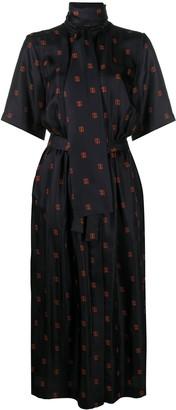 HUGO BOSS Monogram Print Shirt Dress
