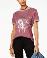 Rebellious One Juniors' Celestial Graphic Ringer T-Shirt