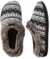 Dearfoams Fair Isle Clog Slippers