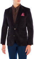 English Laundry Black Quilted Bib Corduroy Blazer