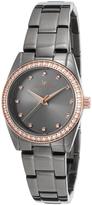 Lucien Piccard Gray Crystal LaBelle Bracelet Watch - Women