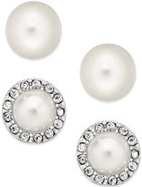 Charter Club Silver-Tone Kiska Imitation Pearl Stud Earring Duo, Only at Macy's