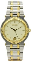 Gucci 9000M Stainless Steel & Gold Plated Quartz 32mm Mens Watch