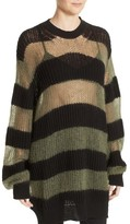 McQ Women's Sheer Stripe Knit Tunic