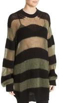 McQ Women's Sheer Stripe Knit Tunic