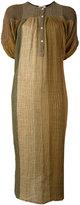 Masscob front placket midi dress - women - Linen/Flax/Polyamide - XS/S