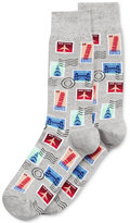Hot Sox Men's Stamp Socks