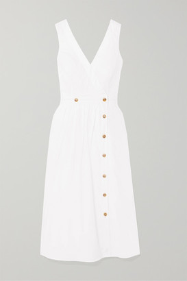 J.Crew Rosina Cotton-poplin Wrap Dress - White