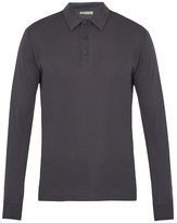 Bottega Veneta Long-sleeved cotton-blend jersey polo shirt