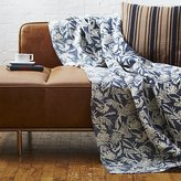 CB2 The Hill-Side tropical leaves linen throw