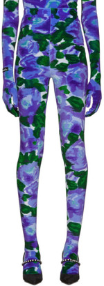 Richard Quinn Blue Floral Leggings