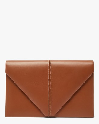 Hunting Season Leather Suede Envelope Clutch