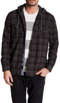 Quiksilver Long Sleeve Plaid Regular Fit Hooded Shirt