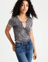 American Eagle Outfitters AE Soft & Sexy Cropped Wrap T-Shirt
