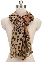 HERRICO New Long Section Coffee Leopard Print Chiffon Shawl Fashion Wild Scarves Women