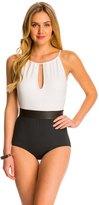 Carmen Marc Valvo Cosmopolitan Elizabeth High Neck One Piece Swimsuit 8142810