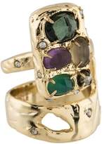 Alexis Bittar Slab Double Banded Cocktail Ring