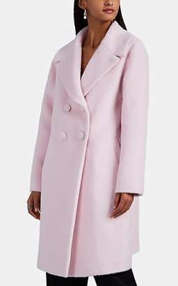 Lisa Perry Women's Fuzzy Wool-Blend Coat - Pink