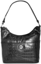 Giani Bernini Croc-Embossed Hobo, Only at Macy's