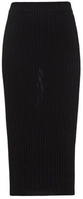 Alexandre Vauthier Knitted Pencil Skirt - Black