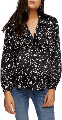 Topshop MATERNITY Dalmatian-Print Long-Sleeve Shirt
