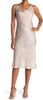 Thumbnail for your product : Love Stitch Leopard Cowl Neck Slip Dress