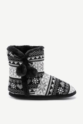 Ardene Fair Isle Bootie Slippers