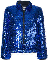 MSGM sequinned puffer jacket