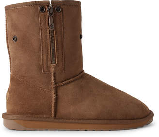 Emu Chestnut Stinger Lo Zip Shearling-Lined Suede Boots