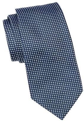 Emporio Armani Micro Check Silk Tie