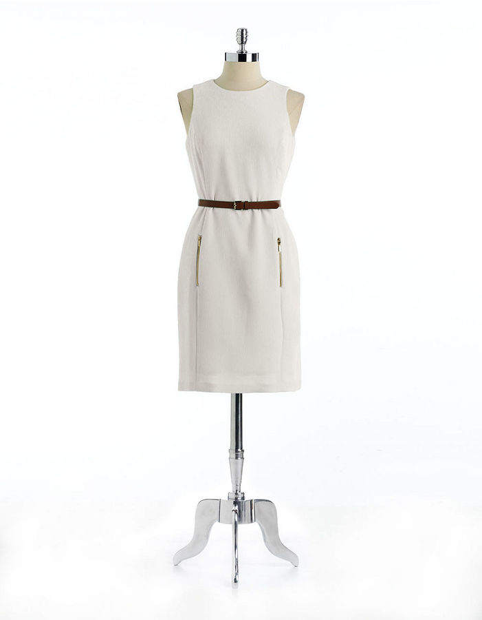 Anne Klein Belted Sleeveless Dress