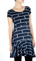 Navy Brick T-shirt Dress