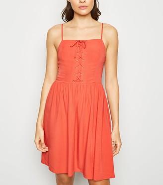 New Look Tall Lace Up Mini Dress