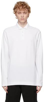 Ermenegildo Zegna White Stretch Cotton Long Sleeve Polo