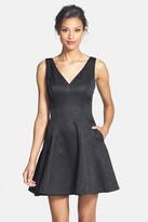 Erin Fetherston ERIN ERIN &Veronica& Back Bow Detail Jacquard Fit & Flare Dress