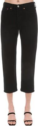 Levi's 501 Cropped High Waist Denim Jeans
