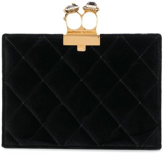 Alexander McQueen Quilted Two-Ring Pouch
