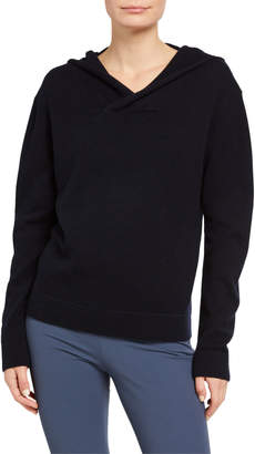 Vince Cross-Front Wool-Cashmere Hoodie