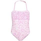 Elizabeth Hurley Elizabeth HurleyWhite & Pink Safari Swimming Costume