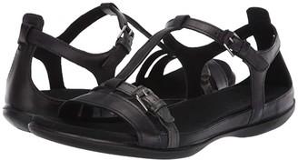 Ecco Summer Buckle Sandal (Black/Dark Shadow Metallic Cow Nubuck/Cow Leather) Women's Shoes