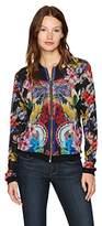 Desigual Women's Basile Woman Knitted Jacket, black, XXL