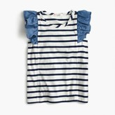 J.Crew Girls' striped flutter sleeve tank top