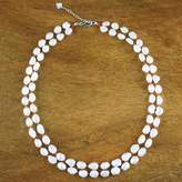 Bridal Pearl Necklace, 'Sunny Clouds'