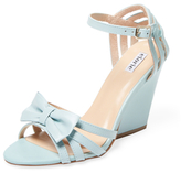 Leather Bow Wedge Sandal