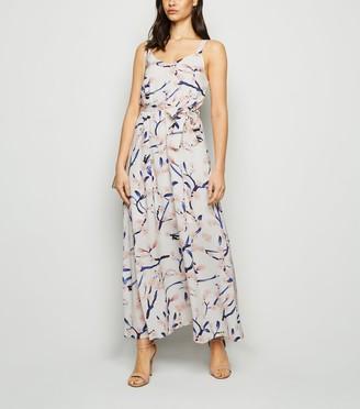 New Look Mela Floral Print Tie Waist Maxi Dress
