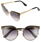 Jimmy Choo Women's 'Ora' 51Mm Cat Eye Sunglasses - Rose Gold/ Black Rose