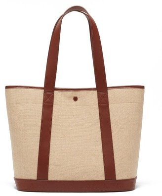 A.P.C. Helene Leather-trimmed Canvas Tote Bag - Tan Multi