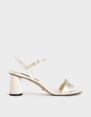 Charles & Keith Wedding Collection: Satin Embellished Heeled Sandals