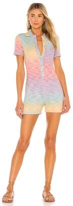 Frankie's Bikinis Rose Knit Romper