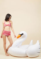ModCloth Flock on the Wild Side Pool Float in White Swan